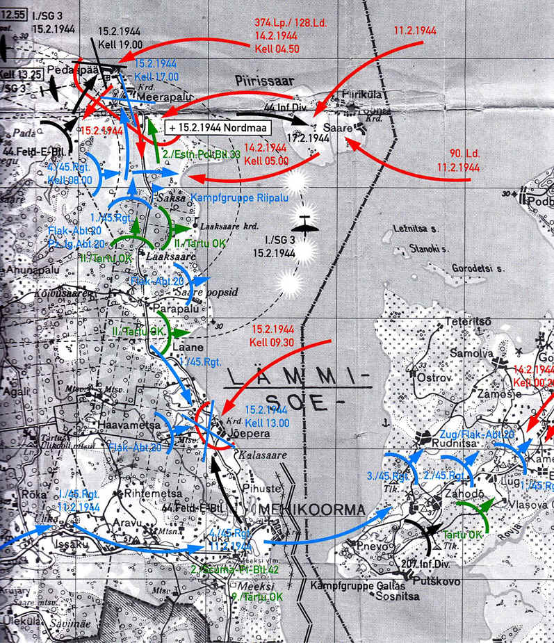 Virolaisten Torjuntavoitto Peipsijarvella Helmikuussa 1944